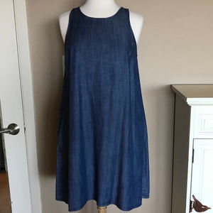 EUC Gap chambray shift dress